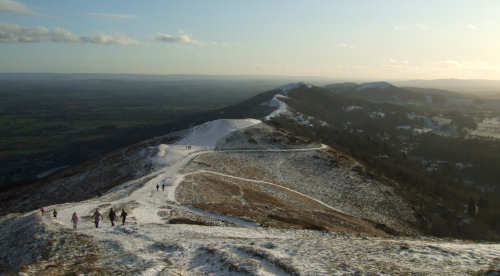 Snow on the Malvern Hills
